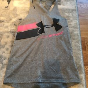 Under Armour Gray Tank Top Size Youth Small